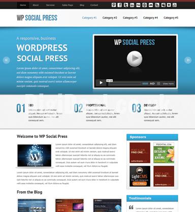 WP Social Press Theme