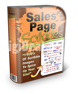 Sales Page Scribbles - Graphics